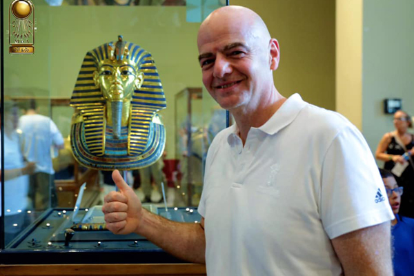 President of FIFA visited the Egyptian Museum