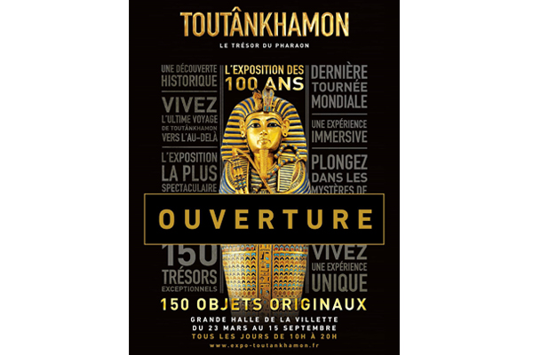 The official inauguration of Tutankhamun's exhibition in Paris by Egypt'sMinister of Antiquities and French Minister of Culture